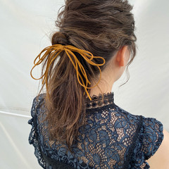 結婚式ヘアアレンジ ヘアアレンジ アップスタイル ふわふわヘアアレンジ ヘアスタイルや髪型の写真・画像
