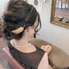 大人かわいい 夏 結婚式 エレガント ヘアスタイルや髪型の写真・画像