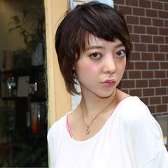 ストリート ショート グラデーションカラー 大人かわいい ヘアスタイルや髪型の写真・画像