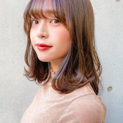 ミディアム 愛され ナチュラル デジタルパーマ ヘアスタイルや髪型の写真・画像