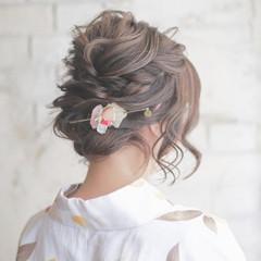 結婚式 夏 大人かわいい ヘアアレンジ ヘアスタイルや髪型の写真・画像