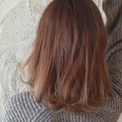 外国人風 ハイトーン ミディアム グラデーションカラー ヘアスタイルや髪型の写真・画像