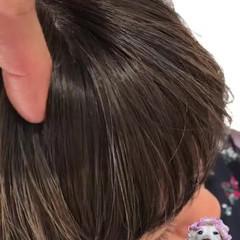 前髪あり ミディアム ハイライト 外国人風 ヘアスタイルや髪型の写真・画像