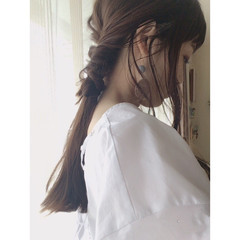 くるりんぱ ショート ナチュラル ロング ヘアスタイルや髪型の写真・画像