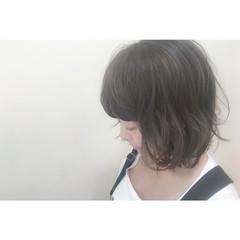 ナチュラル 暗髪 アッシュ 大人かわいい ヘアスタイルや髪型の写真・画像