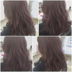 外国人風 ブラウン セミロング 暗髪 ヘアスタイルや髪型の写真・画像