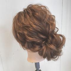 ヘアアレンジ ゆるふわ パーティ 結婚式 ヘアスタイルや髪型の写真・画像