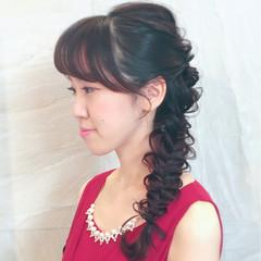 ヘアアレンジ ロング 二次会 かわいい ヘアスタイルや髪型の写真・画像