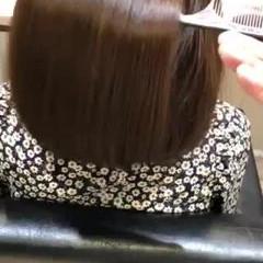 サイエンスアクア ボブ 髪質改善トリートメント ナチュラル ヘアスタイルや髪型の写真・画像