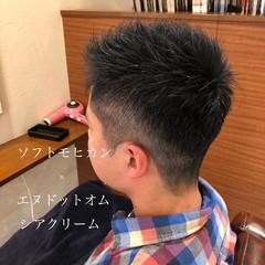ショート メンズ メンズヘア フェードカット ヘアスタイルや髪型の写真・画像