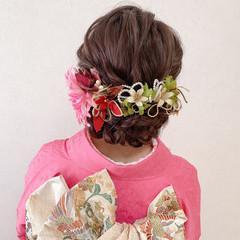 エレガント セミロング 成人式 成人式ヘアメイク着付け ヘアスタイルや髪型の写真・画像