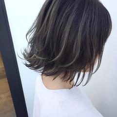 外国人風 こなれ感 ナチュラル ハイライト ヘアスタイルや髪型の写真・画像