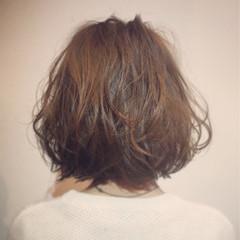 ピュア ボブ 大人かわいい パーマ ヘアスタイルや髪型の写真・画像