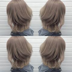ミディアム ガーリー アッシュ 渋谷系 ヘアスタイルや髪型の写真・画像