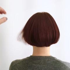 ニュアンス 前髪あり モード ブラントカット ヘアスタイルや髪型の写真・画像