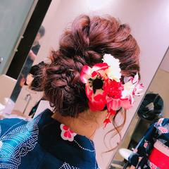 ヘアアレンジ ロング まとめ髪 フェミニン ヘアスタイルや髪型の写真・画像