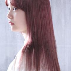 ピンクベージュ ラベンダーピンク ピンクパープル ピンクアッシュ ヘアスタイルや髪型の写真・画像