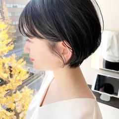ショート ショートヘア 大人かわいい オフィス ヘアスタイルや髪型の写真・画像