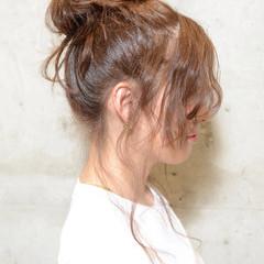 ロング ヘアアレンジ お団子 簡単ヘアアレンジ ヘアスタイルや髪型の写真・画像
