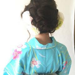 お祭り ゆるふわ セミロング 夏 ヘアスタイルや髪型の写真・画像