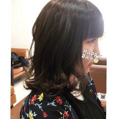 ナチュラル ヘアアレンジ カール ミディアム ヘアスタイルや髪型の写真・画像