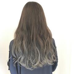 暗髪 ストリート ハイライト ロング ヘアスタイルや髪型の写真・画像