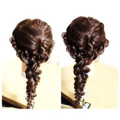 セミロング アッシュ 簡単ヘアアレンジ ショート ヘアスタイルや髪型の写真・画像