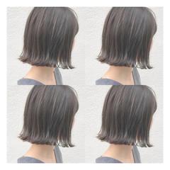 切りっぱなしボブ ボブ ミニボブ ショートヘア ヘアスタイルや髪型の写真・画像