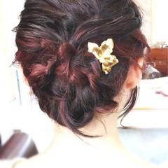 ミディアム ショート 結婚式 ストリート ヘアスタイルや髪型の写真・画像