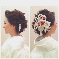 ブライダル ロング 花嫁 和装 ヘアスタイルや髪型の写真・画像