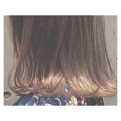 デート 外国人風 ボブ ミルクティーベージュ ヘアスタイルや髪型の写真・画像