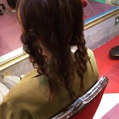 外国人風 ハーフアップ ヘアアレンジ ミディアム ヘアスタイルや髪型の写真・画像