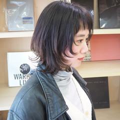 ナチュラルウルフ ニュアンスウルフ ミディアム モード ヘアスタイルや髪型の写真・画像