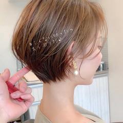 デート アンニュイほつれヘア ショート パーティー ヘアスタイルや髪型の写真・画像