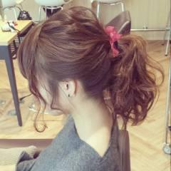 ナチュラル ヘアアレンジ アップスタイル ガーリー ヘアスタイルや髪型の写真・画像