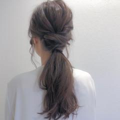 ヘアカラー ナチュラル セミロング トリートメント ヘアスタイルや髪型の写真・画像