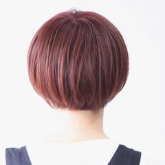 ナチュラル ボブ ピンクベージュ ピンク ヘアスタイルや髪型の写真・画像