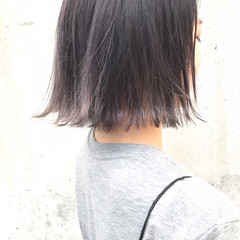 透明感 外ハネ 秋 ボブ ヘアスタイルや髪型の写真・画像
