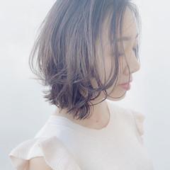 レイヤーヘアー ナチュラル ミディアム レイヤースタイル ヘアスタイルや髪型の写真・画像