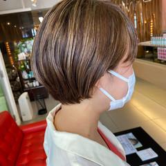 ハンサムショート ハイライト ショートヘア ショート ヘアスタイルや髪型の写真・画像