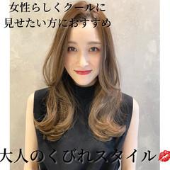 ヨシンモリ 韓国ヘア ロング くびれカール ヘアスタイルや髪型の写真・画像