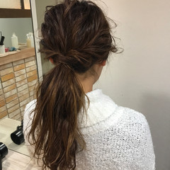 セミロング ナチュラル オフィス ヘアアレンジ ヘアスタイルや髪型の写真・画像