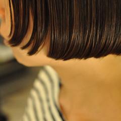 ナチュラル かっこいい ボブ ヘアスタイルや髪型の写真・画像