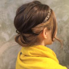 ヘアアレンジ ボブ 簡単ヘアアレンジ ハイライト ヘアスタイルや髪型の写真・画像