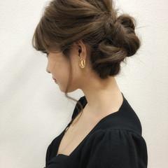ヘアアレンジ 簡単ヘアアレンジ フェミニン 結婚式 ヘアスタイルや髪型の写真・画像