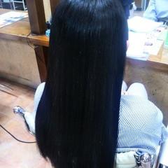 ストレート サラサラ ロング ナチュラル ヘアスタイルや髪型の写真・画像