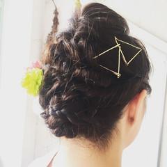 色気 ヘアアレンジ 花火大会 ロング ヘアスタイルや髪型の写真・画像