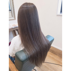 外国人風 ロング 外国人風カラー アッシュグレージュ ヘアスタイルや髪型の写真・画像