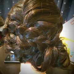 コンサバ ロープ編み 成人式 まとめ髪 ヘアスタイルや髪型の写真・画像