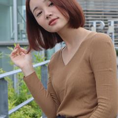 ショートボブ ボブ 切りっぱなしボブ 髪質改善 ヘアスタイルや髪型の写真・画像